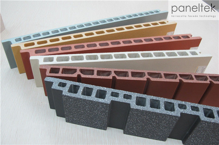 Building Facade Clay Tile Wall Cladding Anti - Cold With Self - Cleaning System