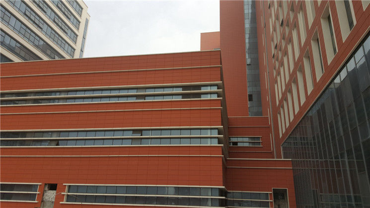 Natural Clay Architectural Terracotta Panels / Building External Wall Panels